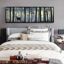 Large Wall Art Elk Canvas Paintings Scenery Animal Print For Bedroom Home Decor Modern Style Design