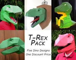 T Rex Dinosaur Pumpkin Stencil by Dinosaur Costume Pattern Etsy