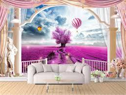 großhandel benutzerdefinierte fototapete 3d heißluft ballon römischen balkon 3d wohnzimmer schlafzimmer hintergrund wand dekoration tapete