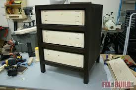 diy 3 drawer nightstand fixthisbuildthat