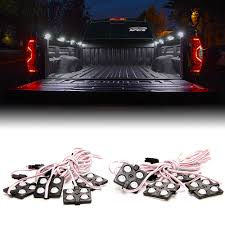 8 X White LED Square Truck Bed Light Kit & Switch | Xprite Best Truck Bed Lights 2017 Partsam Amazoncom Genuine Ford Fl3z13e754a Led Light Kit Rear Rugged Liner F150 With Cargo Without How To Install Cabin Switch Youtube Fxible Strip Truck Bed Lights F150online Forums 8 White Rock Pods Lighting Xprite 60 2 Strips Rail Awning Truxedo Blight Tonneau System Free Shipping 200914 Ingrated Full F150ledscom Magnetic Under The Lux Systems Led For Of Decor Kit Chevyoffroading