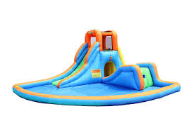 Amazon.com: Bounceland Inflatable Cascade Water Slide With Pool ... Water Park Inflatable Games Backyard Slides Toys Outdoor Play Yard Backyard Shark Inflatable Water Slide Swimming Pool Backyards Trendy Slide Pool Kids Fun Splash Bounce Banzai Lazy River Adventure Waterslide Giant Slip N Party Speed Blast Picture On Marvellous Rainforest Rapids House With By Zone Adult Suppliers