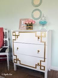 Ikea Trysil Dresser Hack by Ikea Tarva Dresser Hack Gold Greek Key Design Hometalk