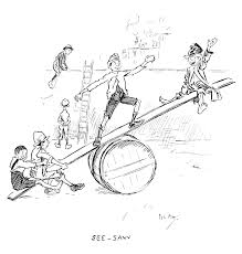 Seesaw Old Book Illustrations