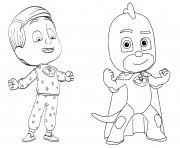 Greg Is Gekko From PJ Masks Coloring Pages