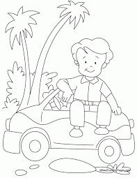 Mini Car Coloring Page