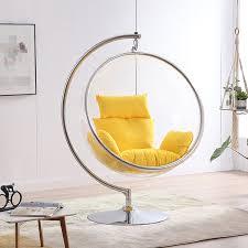 hemisphäre hängen stuhl korb schaukel stuhl transparent acryl korb stuhl hause wohnzimmer garten freizeit lounge stuhl