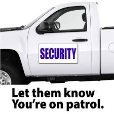Security Patrol Officer Vehicle Magnetic Signs | Security Car ...