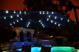 Solar Lighted Patio Umbrella by Offset Solar Patio Umbrella Blue 10 U0027quality Patio Umbrellas