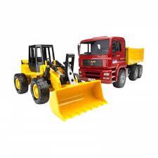Harga Bruder Toys 2752 MAN TGA Construction Truck And FR 130 ...