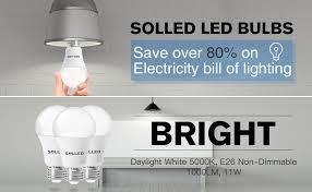 solled a19 led bulb led light bulbs 100w equivalent 11w