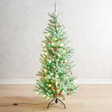 6 Whimsy Flocked LED Pre Lit Christmas Tree