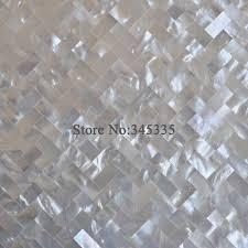 white lip shell mosaic tile of pearl kitchen