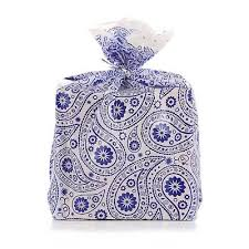 geschenktaschen reusable baby pink gingham plastic gift wrap
