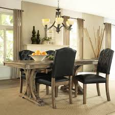 Dinette Sets With Roller Chairs by Leather Dining Room Chairs Throughout Rustic Leather Dining Room