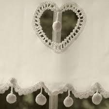 rideau brise bise écru coeur pompons 60 rideaux brise bise les