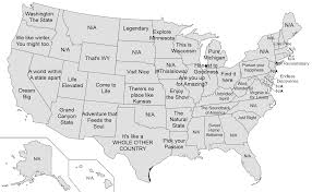 Map Of US States Tourist Sites Slogans OC 2000x1237 MapPorn