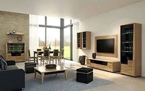 wohnzimmer komplett set e topusko 15 teilig teilmassiv farbe eiche schwarz