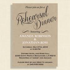 Kraft Paper Rehearsal Dinner Invitations DIY Rustic Wedding Invitation Printable Editable