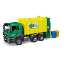 Bruder Toys Man Tgs Rear-Loading Green Garbage Truck - 1/16 Scale ...