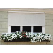 Vinyl Roll Up Patio Shades by Outdoor Shades Shades The Home Depot