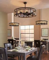 Stunning Ceiling Fan For Kitchen With Lights Light Above Black Leather Dining
