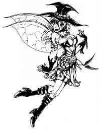 Gothic Coloring Pages Fairy For Adults