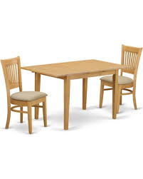 East West Furniture Norfolk 3 Piece Hepplewhite Modern Dining Table Set