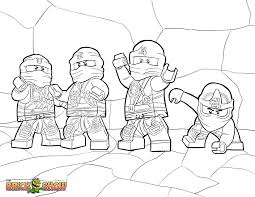 LEGO Ninjago Tournament Of Elements Coloring Pages