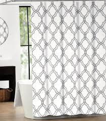 Small Bathroom Window Curtains Amazon by Amazon Com Tahari Home Cotton Shower Curtain Moroccan Tile