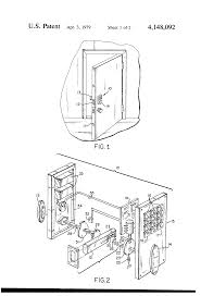 Fireking File Cabinet Lock Stuck by Patent Us4148092 Electronic Combination Door Lock With Dead Bolt
