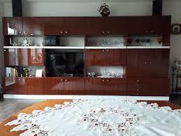 schrankwand wohnzimmer hochglanz gebraucht ddr 1968 bxhxt