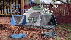 rei flex lite vs king do way portable chair youtube