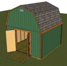 Gambrel Shed Plans 16x20 by Barn Shed Plans Small Barn Plans Gambrel Shed Plans