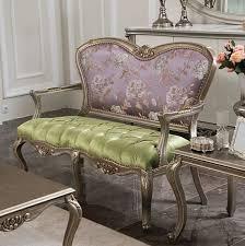 casa padrino luxus barock sitzbank lila grün silber 125 x 60 x h 103 cm wohnzimmer bank mit blumenmuster barock wohnzimmer möbel edel