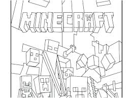 Minecraft Coloring Pages Printable Animals Concept With Sword