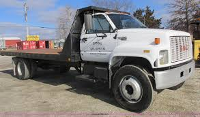 100 Rent Flatbed Truck 1991 GMC TopKick Flatbed Truck Item I8769 SOLD February