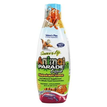 Nature's Plus Source of Life Animal Parade Children's Multi-Vitamin Liquid - Tropical Berry