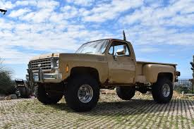 1975 Chevy Long Bed Stepside 4x4 Pick-up Lifted Truck Fun Rat Rod ...