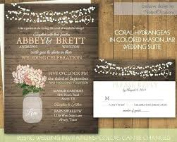 Inspirational Rustic Mason Jar Wedding Invitations And Beautiful Pink Invitation Template