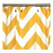 catchy yellow chevron curtains and gray and white chevron shower
