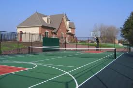 Athletic Courts And Fields - Neave Landscaping Hamptons Grass Tennis Court Zackswimsmmtk Wish List Pinterest Brilliant Design How Much Is A Basketball Court Easy 1000 Ideas Unique To Build In Backyard Sport Cost With Awesome Sketball Outdoor Sport Tile Backyards Enchanting An Outdoor Tennis 140 To Make The Concrete Slab Is Great Exercise For The Whole Residential Sportprosusa Goods Half Can Add On And Paint In Small Pinteres Multi Poles Voeyball