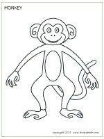 Free Printable Monkey Templates To Color And Use For Crafts Learning Activities
