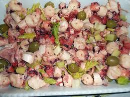 cuisiner poulpe frais recette de salade de poulpe tonino