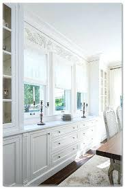 Built In Dining Room Cabinets White
