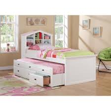 Full Size Bed With Trundle by Bed U0026 Bedding Using Mesmerizing Twin Captains Bed For Captivating