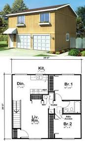 Garage Apartment Plan 6015 has 728 square feet of living space 2