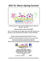 Last Day For 1 Any by 2017 St Mary U0027s Spring Carnival The Sanger Scene