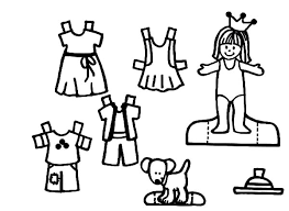 Doll Dress Games Colouring Page Coloring