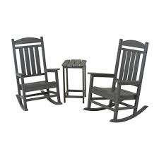 POLYWOOD Presidential Slate Grey 3-Piece Patio Rocker Set-PWS139-1 ... Jefferson Recycled Plastic Wood Patio Rocking Chair By Polywood Outdoor Fniture Store Augusta Savannah And Mahogany 3 Piece Rocker Set 2 Chairs Clip Art Chair 38403397 Transprent Png Polywood Style 3piece The K147fmatw Tigerwood Woven Black With Weave Decor Look Alikes White J147wh Bellacor Metal Mainstays Wrought Iron Old